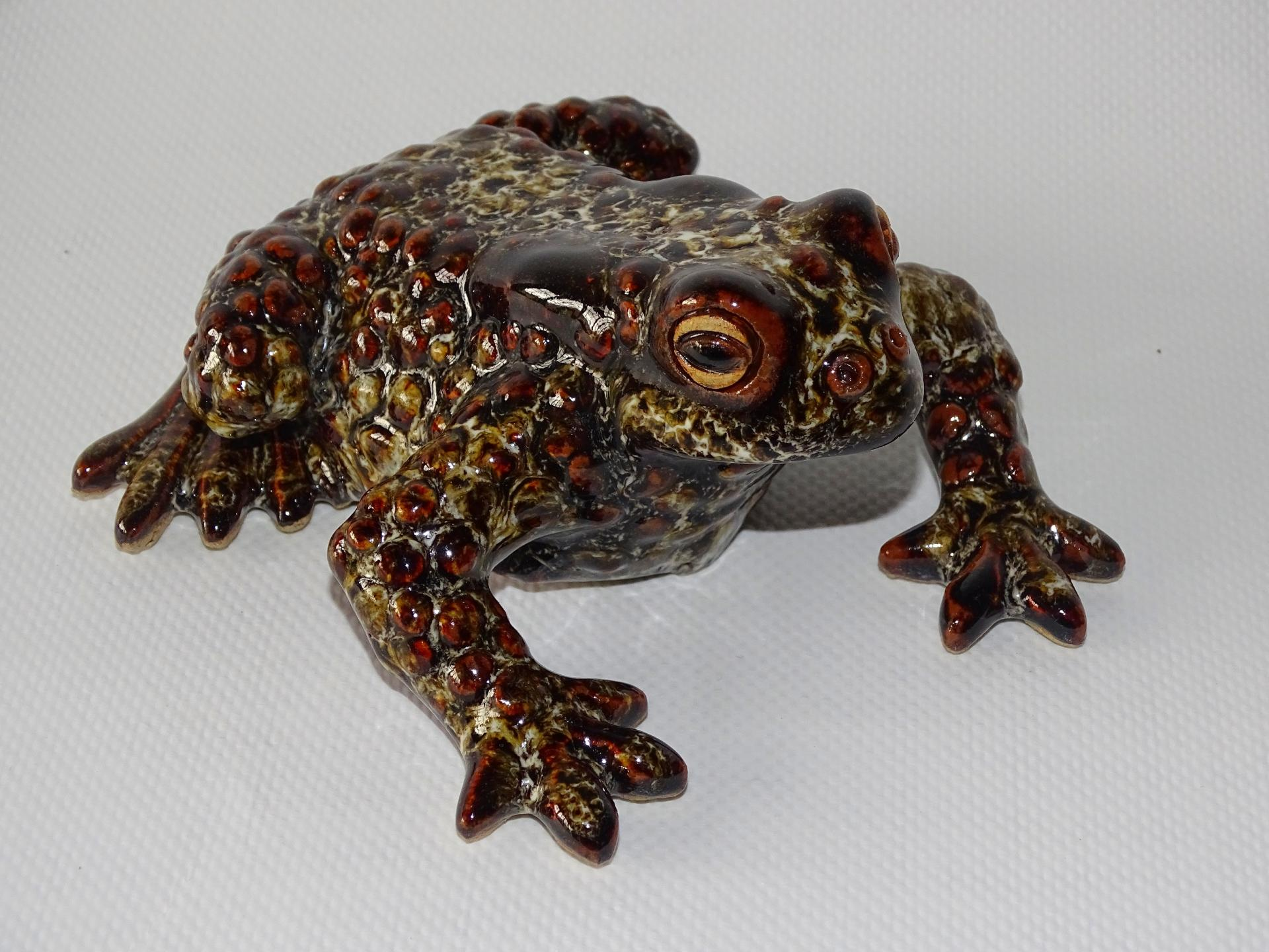 PETIT JEAN PIERRE  CRAPAUD GRES EMAILLE TAILLE REELLE 1